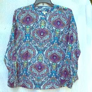 Women's Talbots size extra large colorful blouse